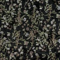 女装丝绒植物图案针织面料【3码起订】