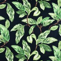 植物图案混纺面料