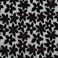 植物图案化纤丝绒面料