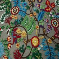 植物图案化纤面料