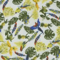 现货 植物图案棉纺巴厘纱面料