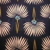 快反 植物图案针织平板布面料