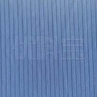蓝色针织罗纹针织面料