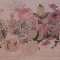 植物图案麻纺汉麻布面料