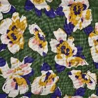 订货 植物图案麻纺面料