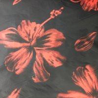 植物图案化纤尼丝纺面料