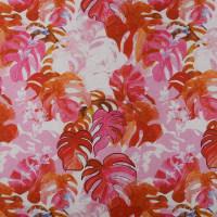 夏威夷图案化纤金光绒面料