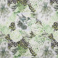 植物图案棉纺平绒面料