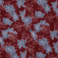 现货 植物图案麻纺绉布面料