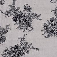 现货 植物图案棉纺纱布面料