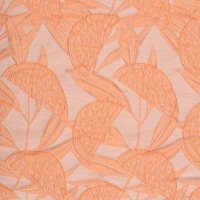 快反 植物图案化纤锦涤棉面料