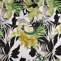 现货 植物图案棉纺贡缎面料