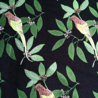 快反 植物图案混纺TR面料