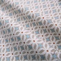 几何图案麻纺亚麻布面料