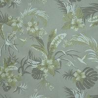 童装植物图案棉纺斜纹...