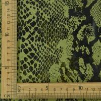现货 绿色全涤麂皮绒印花面料