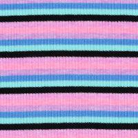 条纹图案针织罗纹针织面料