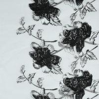 植物图案化纤欧根纱面料