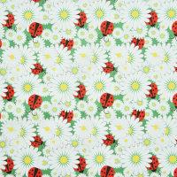 植物图案棉纺贡缎面料