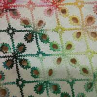 棉底涤丝绣纸印花