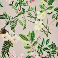 植物图案针织罗马布面料
