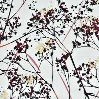植物图案化纤涤双绉面料