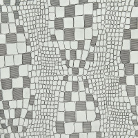 印花鳄鱼纹二层皮