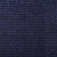 现货蓝色素千鸟格 苏格兰Harris Tweed 100%羊羔毛粗花呢硬挺面料