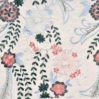 植物图案针织蕾丝面料