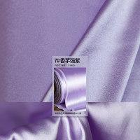 7号色真丝弹力缎 软垂微透纯色桑蚕丝 衣服面料