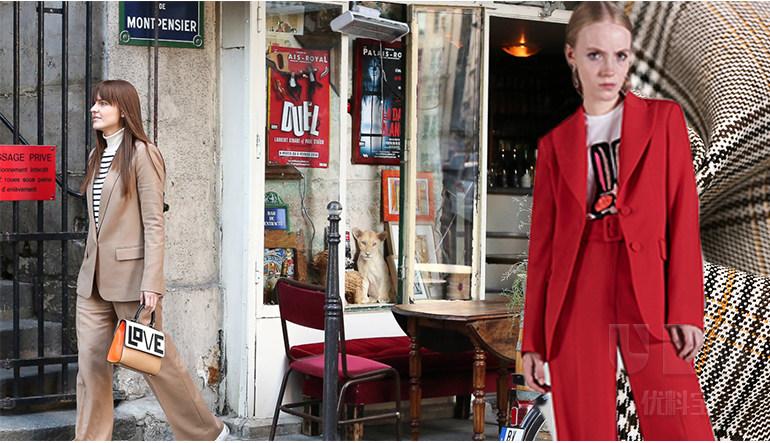18春夏女装街拍套装面料分析--炫彩街潮